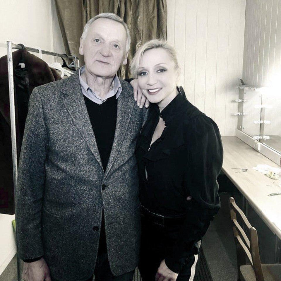 K.Orbakaitė ir jos tėtis M.Orbakas.<br>Soc. tinklų nuotr.