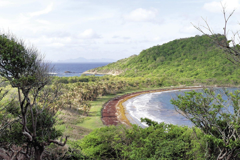 """Negyvenama Rondo sala, priklausanti Grenadai. """"Tokias vietas pasiekti įmanoma tik burine jachta – čia nėra oro uosto, kelių, doko kruiziniams laivams prisišvartuoti – jokios infrastruktūros"""", – sakė pora.<br>Asmeninio albumo nuotr."""