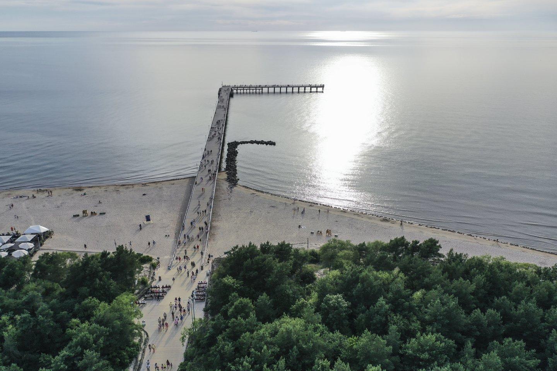 Baltijos jūra,paplūdimiai,vasara,Palanga,tiltas,saulėlydis,orai<br>V.Ščiavinsko nuotr.