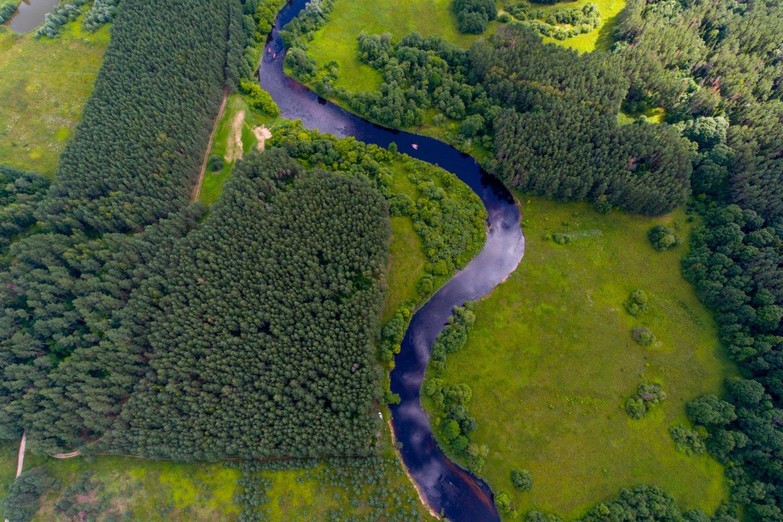 Butėnų,vasara,Šventosios upė,baidarės,saulelydis,orai<br>V.Ščiavinsko nuotr.