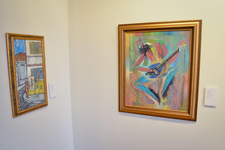 Vytauto Kasiulio darbai muziejuje.<br>D.Umbraso nuotr.