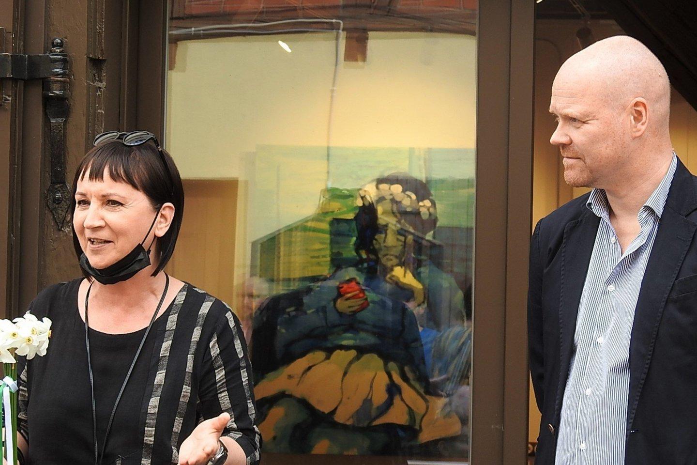 """Klaipėdoje atidaryta Vilmanto Marcinkevičiaus kūrybos paroda """"Degantis protas"""".<br>G.Pilaičio nuotr."""