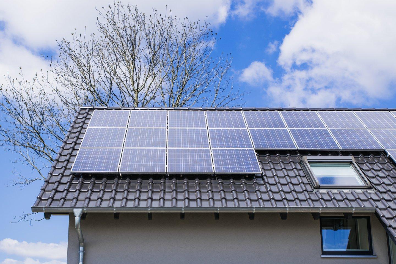 Maždaug 35 kv. metrus užimančią saulės elektrinę jis įsirengė ant namo stogo, modulius sustatė ant specialios stoginės, dengiančios automobilių parkavimo vietas.