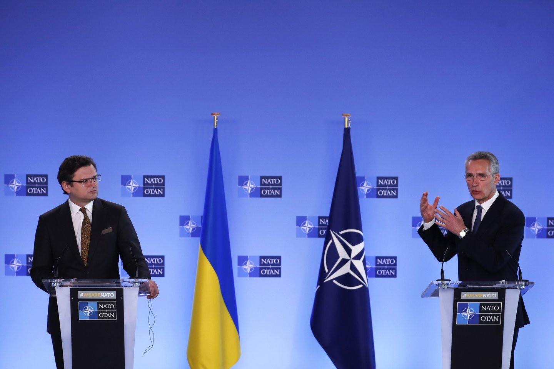 Ministras atkreipė dėmesį, kad dar kelios dienos iki viršūnių susitikimo NATO galutinio komunikato projekte MAP Ukrainai apskritai nebuvo minimas.<br>AP/Scanpix nuotr.