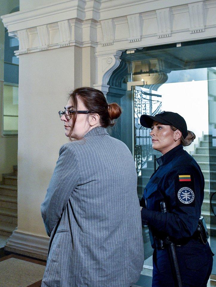 I.Žukauskaitė-Šakalienė ikiteisminio tyrimo metu vaidino psichinę ligonę.<br>V.Ščiavinsko nuotr.