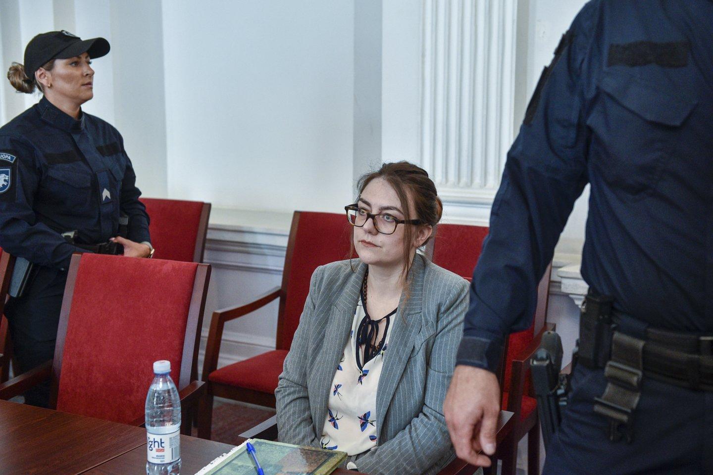 I.Žukauskaitė- Šakalienė teisme taip ir nepasakė dėl ko nužudė pensininkę.<br>V.Ščiavinsko nuotr.