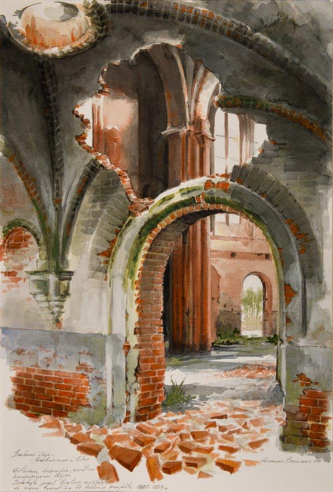 R.Borisovo kūriniuose užfiksuotas nykstantis architektūros palikimas.