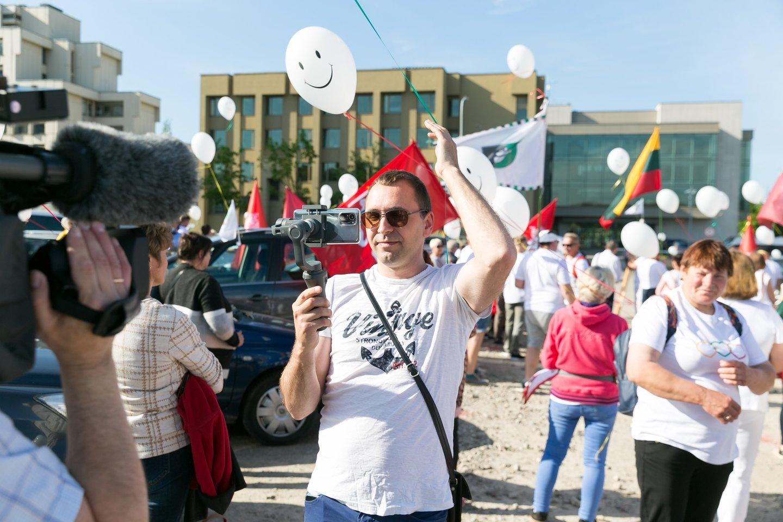 Protesto akcija prie Seimo.<br>T.Bauro nuotr.