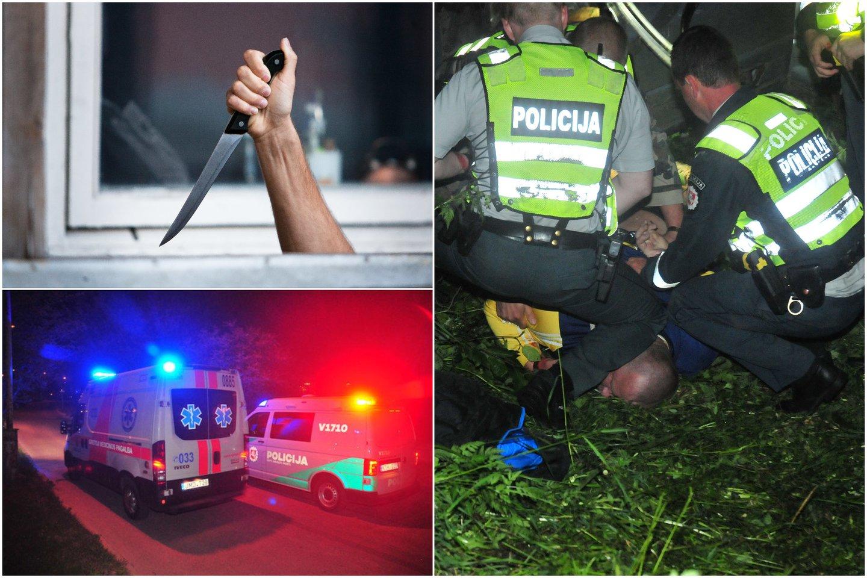 Teismo sprendimas išteisinti peiliu komisariate besišvaisčiusį smurtautoją dėl pasikėsinimo nužudyti apstulbino policijos pareigūnus.<br>Lrytas.lt koliažas
