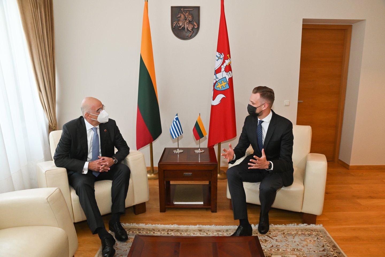 G. Landsbergis: prieš Lietuvą vykdoma hibridinio karo operacija, kurioje migracija naudojama kaip ginklas.<br>URM nuotr.