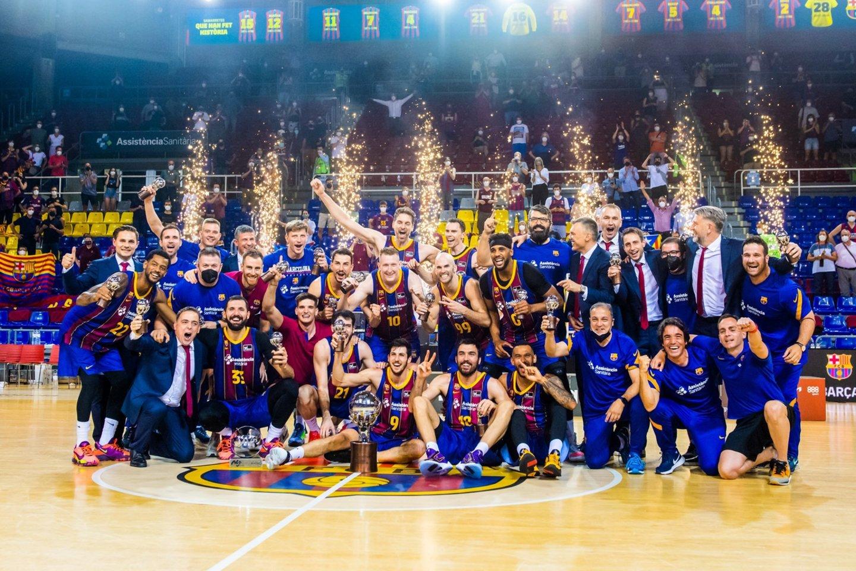"""Barcelona"" iškovojo 16-ąjį ACB lygos titulą.<br>""Barca Basket"" nuotr."