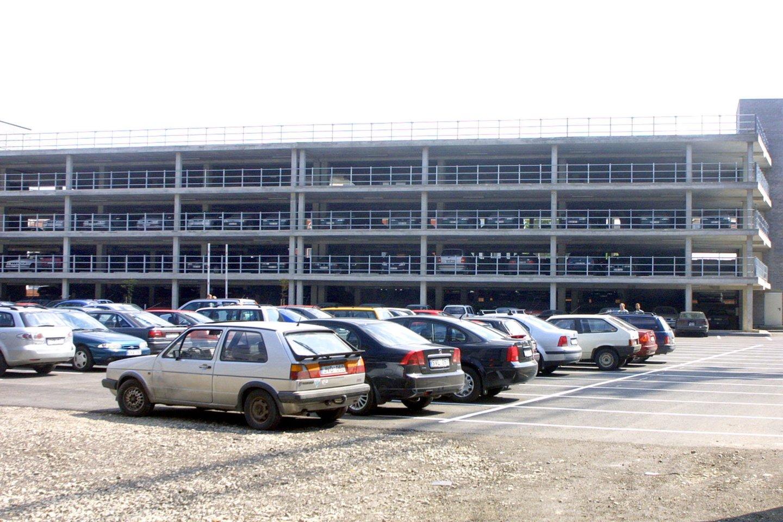 Daugiaaukštis garažas Gožtauto g.Verslo trikampyje<br>P.Lileikio asociatyvi nuotr.