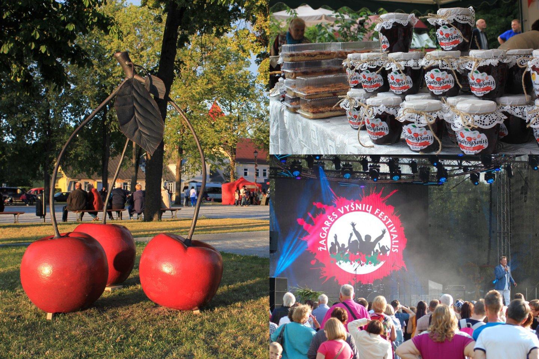 """Liepos 15 -18 d. Žagarėje jau septynioliktą kartą įvyks Žagarės vyšnių festivalis 2021 – vienas žinomiausių festivalių Lietuvoje, be kurio vasara jau tiesiog neįsivaizduojama. Festivalis šiemet kupinas naujovių, o jo šūkis – """"Visiems, kas su mumis"""".<br>Lrytas.lt koliažas"""