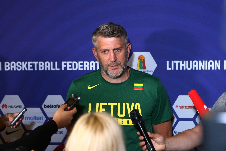 Darius Maskoliūnas dar neatvyko į rinktinės stovyklą.<br>G.Šiupario nuotr.