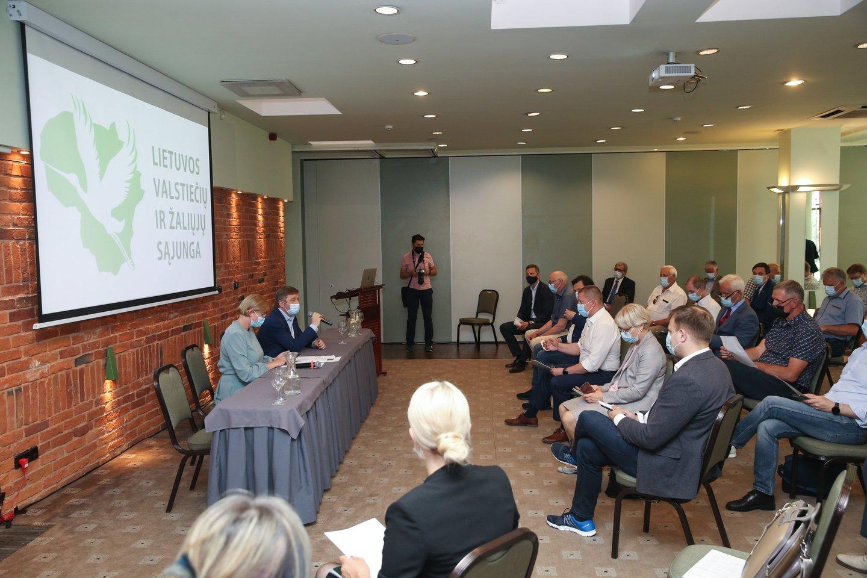 Valstiečių tarybos susitikimas.<br>R.Danisevičiaus nuotr.