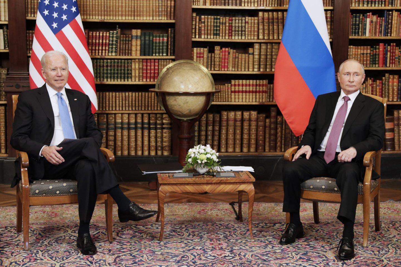V. Putinas ir J. Bidenas.<br>TASS/Scanpix nuotr.