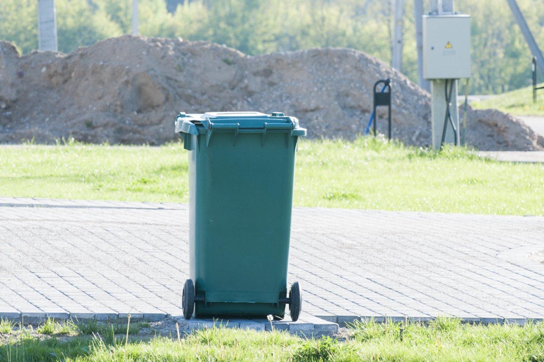 Šiukšlių konteineris,<br>V.Ščiavinsko asociatyvi nuotr.