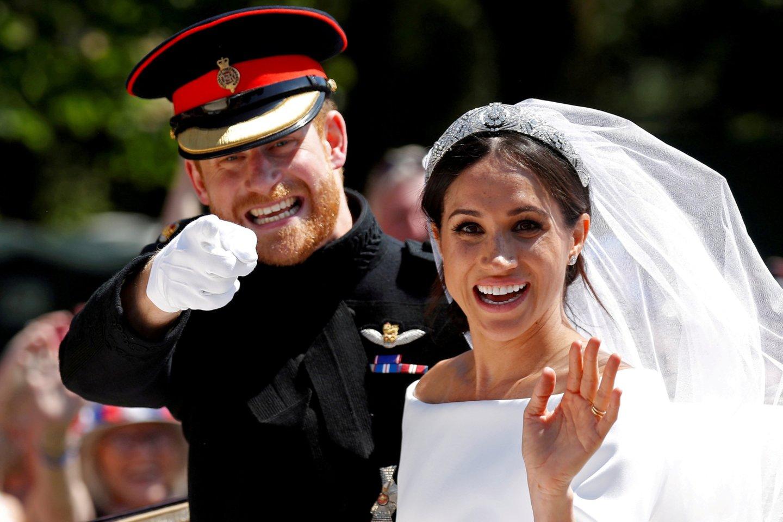 Princas Harry ir Meghan Markle.<br>Scanpix/RS nuotr.
