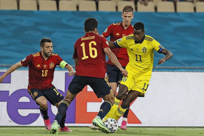 Ispanų rungtynės su Švedija baigėsi 0:0.<br>AP/Scanpix nuotr.