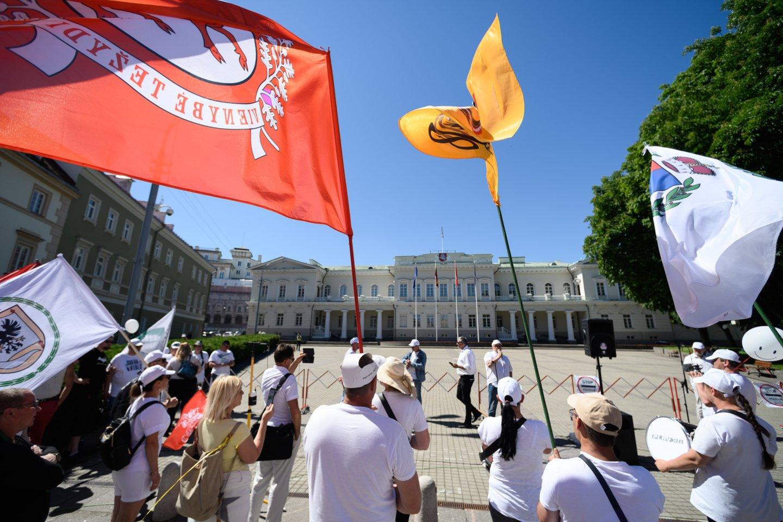 Trečioji protesto diena.<br>V.Skaraičio nuotr.