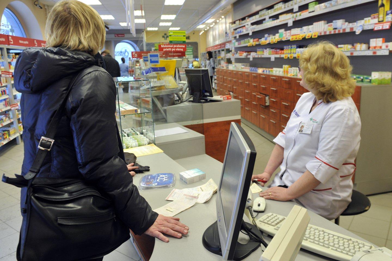 Vaistai, vaistinė, monitorius<br>R.Neverbicko nuotr.