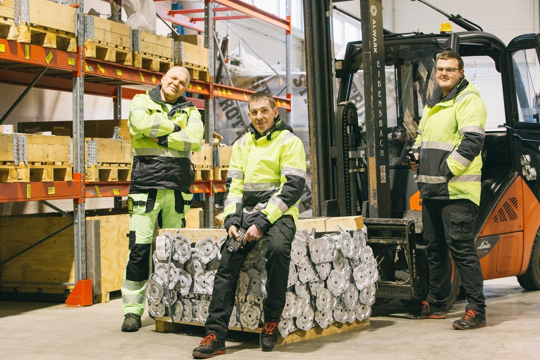 """""""Layher Baltic"""" pagal lankstų darbo grafiką šiuo metu dirba 7 darbuotojai.<br>""""Layher Baltic"""" nuotr."""