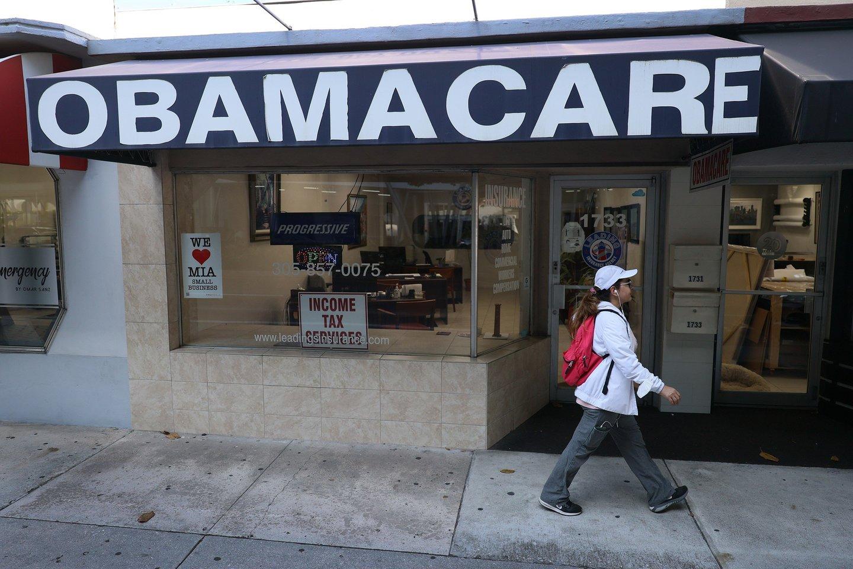 """JAV Aukščiausiasis Teismas atmetė skundą dėl """"Obamacare"""" programos. <br>AFP/Scanpix nuotr."""