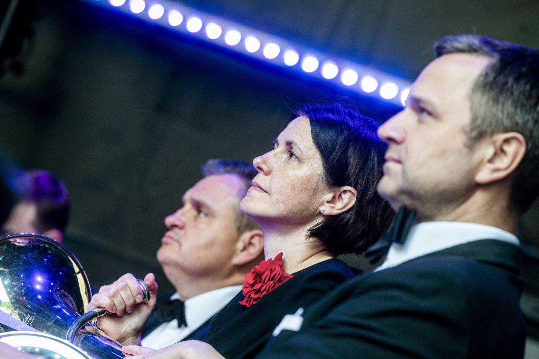 """""""Trimito"""" orkestras parengė N.Rotos kūrinių programą.<br>D.Matvejevo nuotr."""