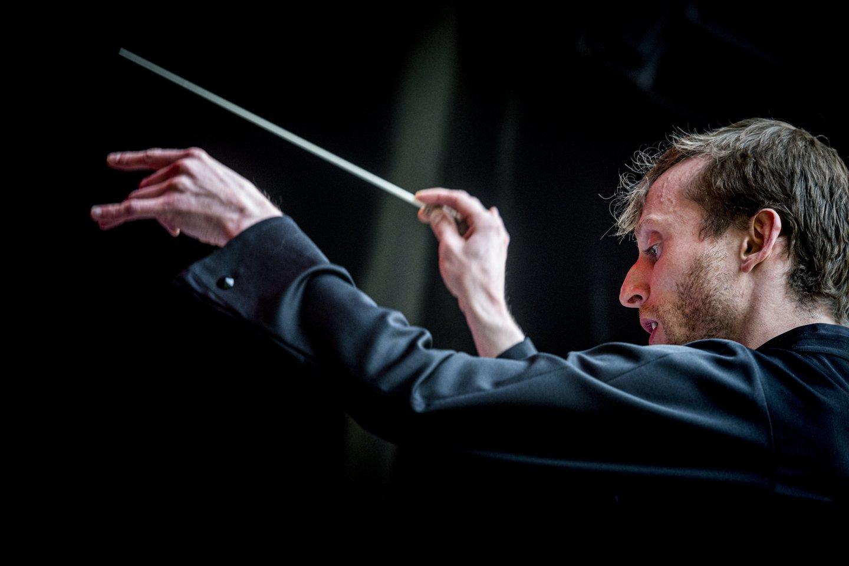 """Trimito"" orkestrui dirigavo K.Variakojis.<br>D.Matvejevo nuotr."