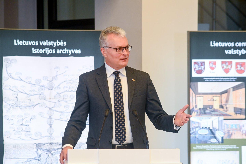 G.Nausėda archyvų forume.<br>Lietuvos Respublikos Prezidento kanceliarijos (R.Dačkaus) nuotr.