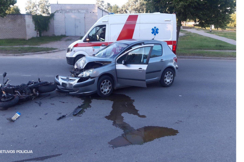 Praėjusios paros avarijose sužeista 17 žmonių.<br>LKPT nuotr.