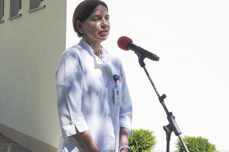 NVI Chemoterapijos skyriaus su dienos stacionaru vadovė dr. Birutė Brasiūnienė.<br>E.Paukštės/NVI nuotr.