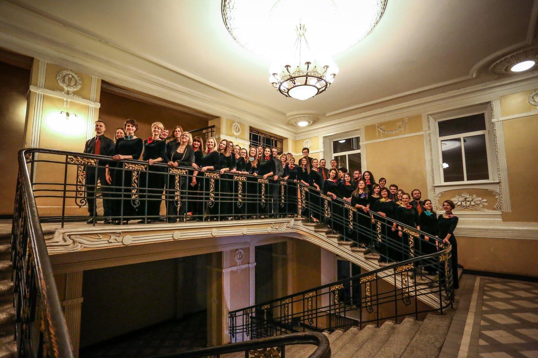 """Vilniaus universiteto choras """"Pro musica""""."""