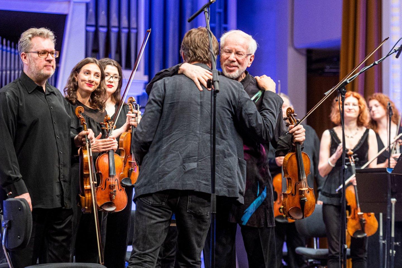 G.Kremeris ir vieno koncerte skambėjusio kūrinio autorius A.Žlabys.<br>D.Matvejevo nuotr,