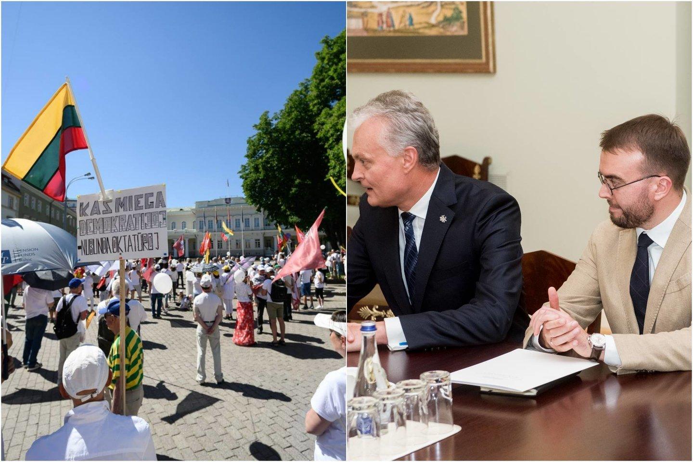 Šalies vadovo patarėjas įsitikinęs – kad ir kokie žmonės susirinks Daukanto aikštėje, prezidentas su jais kalbėsis.<br>Lrytas.lt koliažas