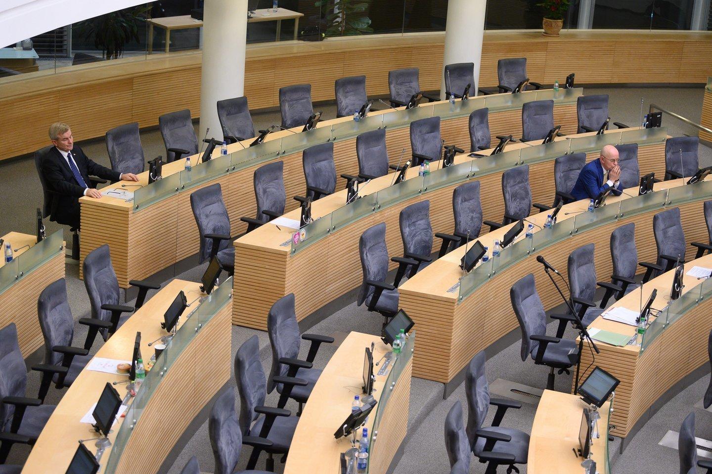 Balsavimas dėl V.Pranckiečio atstatydinimo.<br>V.Skaraičio nuotr.