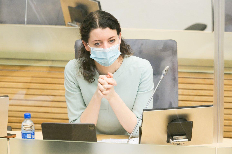 Socialinės apsaugos ir darbo ministrė Monika Navickienė.<br>T.Bauro nuotr.