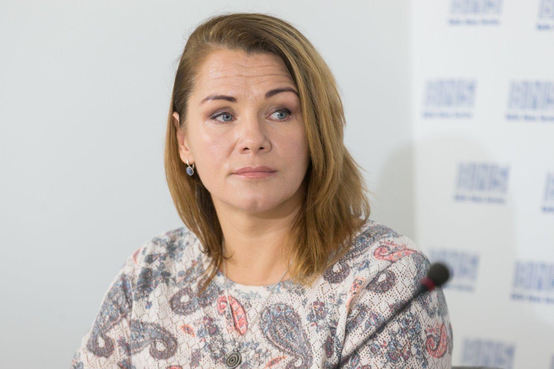 Aktyvių mamų sambūrio atstovė Rasa Žemaitė.<br>T.Bauro nuotr.