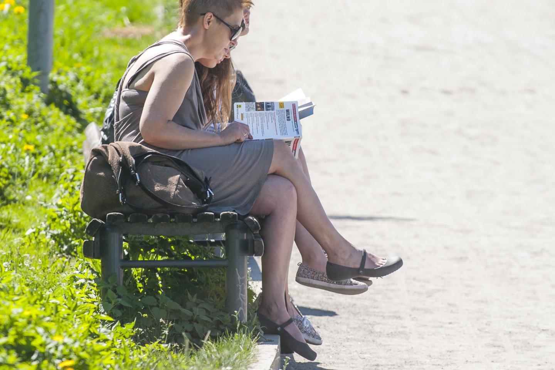 Lietuvoje kepina vasariška kaitra.<br>V.Ščiavinsko nuotr.