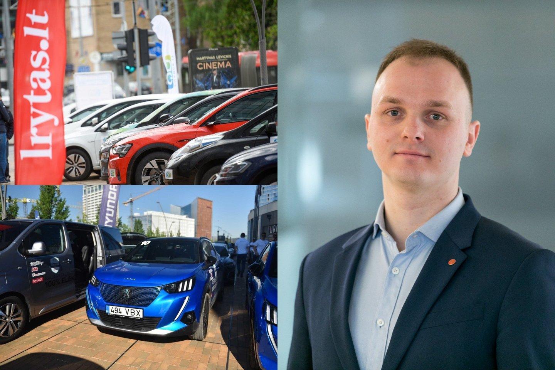 """Penktadienį, jau septintus metus iš eilės startuosiančiose elektromobilių varžybose """"Ignitis ON: Pažink Lietuvą!""""<br>lrytas.lt fotomontažas"""