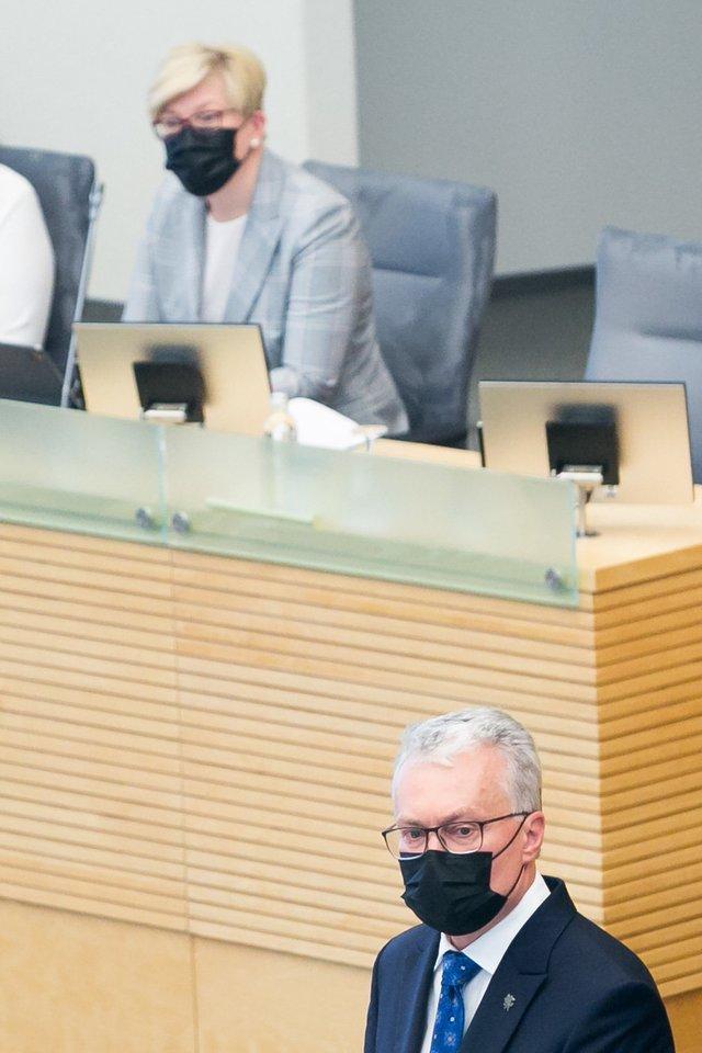 Gitanas Nausėda, Ingrida Šimonytė<br>T.Bauro nuotr.