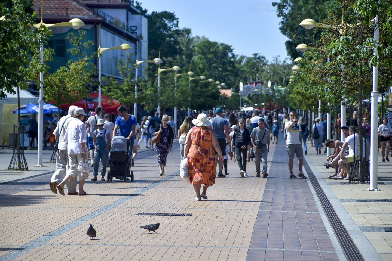 Palanga,vasara,Basanavičiaus gatvė,poilsis,jūra,paplūdimiai<br>V.Ščiavinsko nuotr.