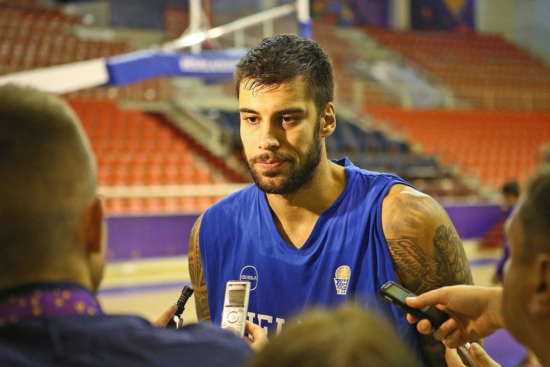 Graikijos krepšinio rinktinės narys G.Pritezis.<br>G.Šiupario nuotr.