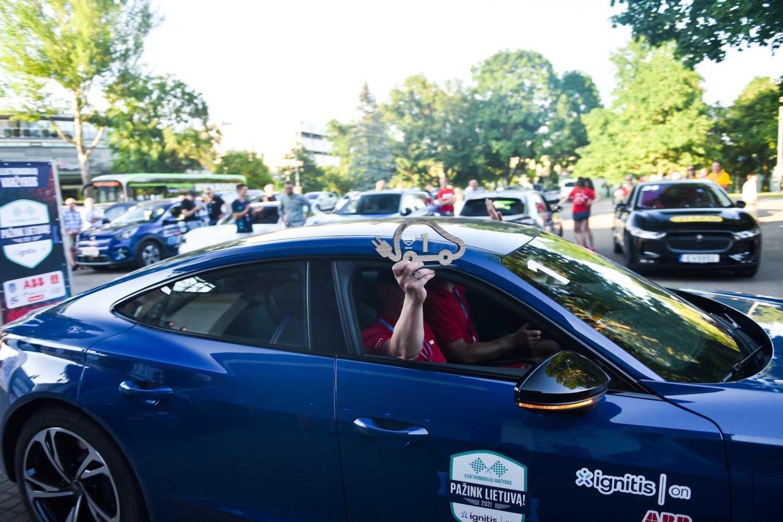 Varžybose paaiškėjo, kurie elektromobiliai ištvermingiausi – nuvažiavo toliausiai.<br>Organizatorių nuotr.