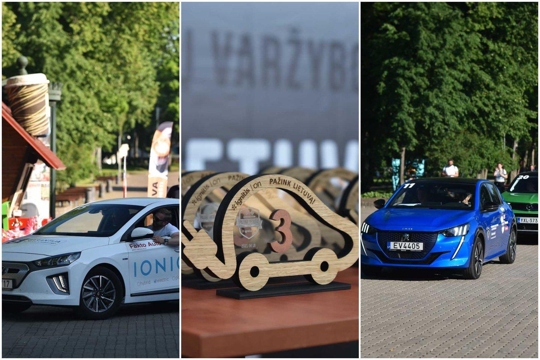 Varžybose paaiškėjo, kurie elektromobiliai ištvermingiausi – nuvažiavo toliausiai.<br>Lrytas.lt montažas.
