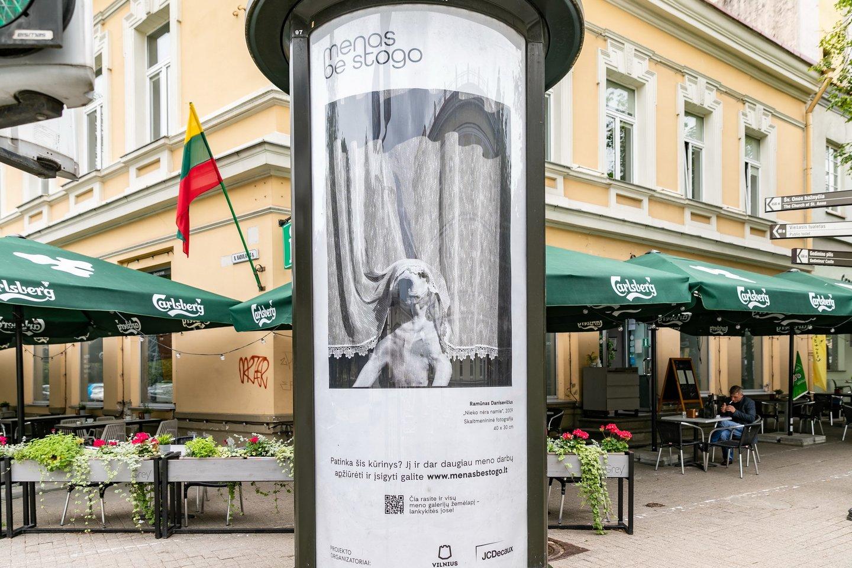 """""""Menas be stogo 2020"""". Ramūno Danisevičiaus kūrinys.<br>Organizatorių nuotr."""
