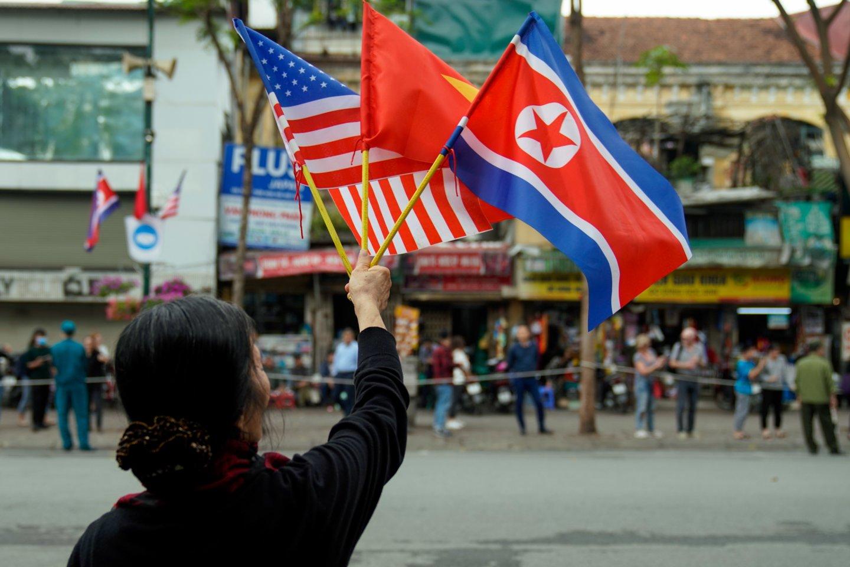 Kol kas nebuvo jokių viešų kontaktų tarp JAV prezidento Joe Bideno administracijos ir branduolinį ginklą turinčios Šiaurės Korėjos. (Asociatyvi nuotr.)<br>ZUMA Press/Scanpix nuotr.