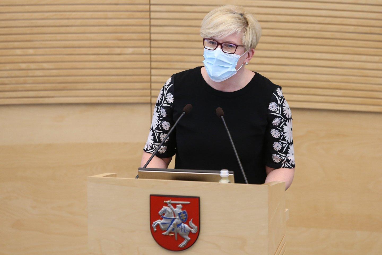 I.Šimonytė.<br>R.Danisevičiaus nuotr.