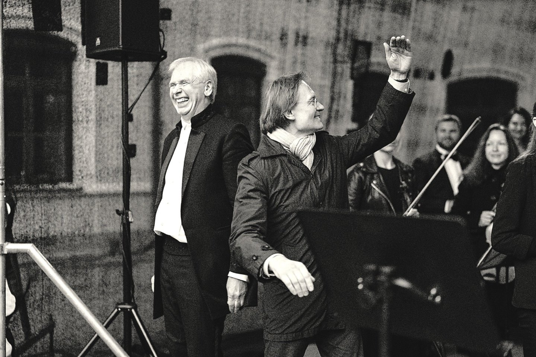 Po priverstinės pauzės G.Rinkevičius (kairėje) ir R.Šervenikas nėrė į bendrus projektus.<br>G.Jauniškio nuotr.