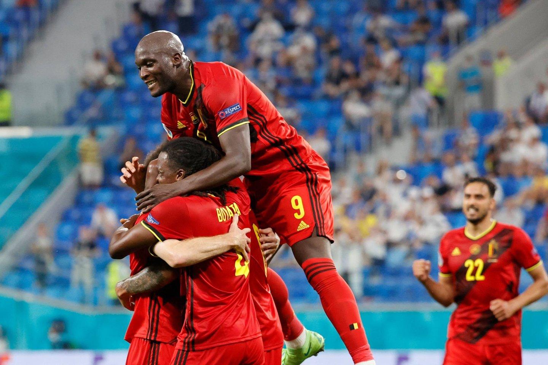 Belgų pergalę įtvirtino R.Lukaku įvartis.<br>AFP/Scanpix nuotr.